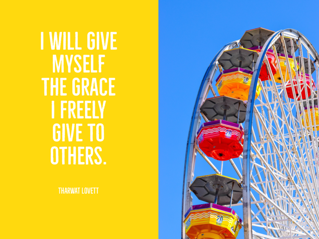 Give yourself grace. Learn how with Tharwat Lovett.