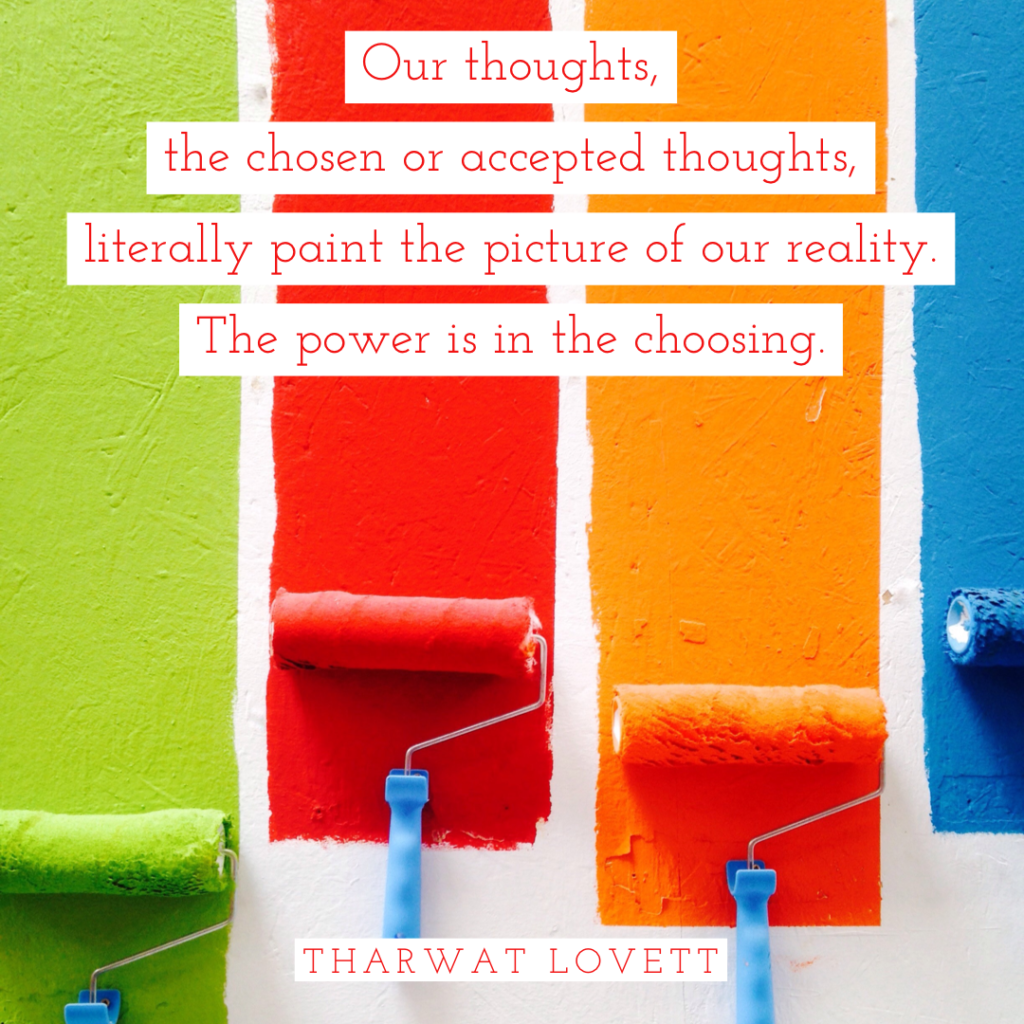 Like these colors chosen on paint rollers, we can choose the thoughts that color our reality.